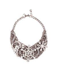 Lulu Frost   Metallic Silvertone Collage Necklace   Lyst