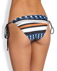 Clover Canyon - Blue Twist-Scarf String Bikini Bottom - Lyst