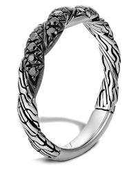 John Hardy | Metallic 'classic Chain' Sapphire Band Ring | Lyst