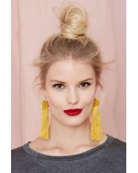 Nasty Gal - Yellow Vanessa Mooney Astrid Tassel Earrings - Lyst