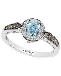 Le Vian | Blue Chocolatier® Aquamarine (1/2 Ct. T.w.) And Diamond (3/4 Ct. T.w.) Ring In 14k White Gold | Lyst