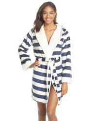 Pj Salvage - Blue Fleece Short Robe - Lyst