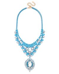 BaubleBar - Blue Lacquer Olympia Bib - Lyst