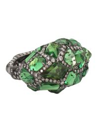 Arunashi | Black Tsavorite Rock Ring | Lyst