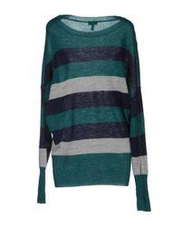 Armani Jeans - Green Long Sleeve Jumper - Lyst
