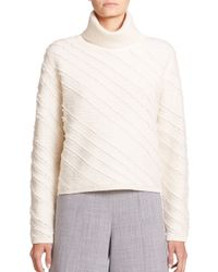 Proenza Schouler - Natural Fringe Jacquard Turtleneck Sweater - Lyst