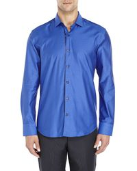Stone Rose | Blue Dot Woven Sport Shirt for Men | Lyst
