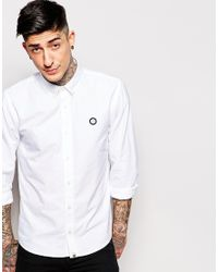 a292b61e5a40 Pretty Green Oxford Shirt In Regular Fit - White in White for Men - Lyst