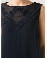 O'2nd - Blue Flared Mini Dress - Lyst
