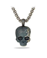David Yurman | Black Waves Skull Amulet Necklace for Men | Lyst