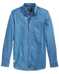 Wesc | Blue Cai Denim Shirt for Men | Lyst