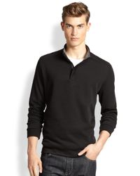 BOSS - Black Piceno Quarter-zip Sweater for Men - Lyst