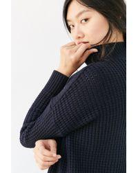 BDG | Blue Waffle Stitch Mock-neck Sweater | Lyst