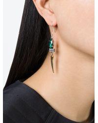 Iosselliani | Metallic 'geometric Floral' Earrings | Lyst