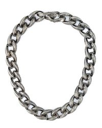 Garrard | Metallic Feather Chunky Chain Necklace | Lyst