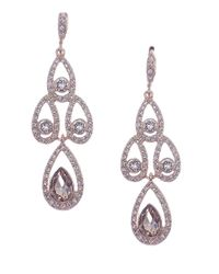 Givenchy - Pink Austrian Glass Chandelier Earrings - Lyst