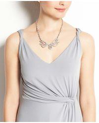 Ann Taylor | Gray Jersey Twisted Shoulder Strap Dress | Lyst