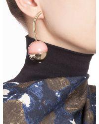 Marni | Purple Runway Screw-back Earrings In Metal And Resin | Lyst