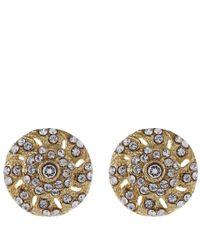 Lulu Frost - Metallic Goldtone Crystal Coquille Stud Earrings - Lyst