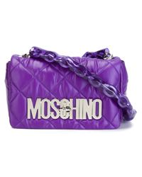 Moschino | Purple Quilted Crossbody Bag | Lyst