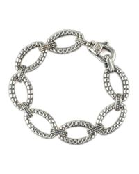 Lagos - Metallic Sterling Link Bracelet for Men - Lyst