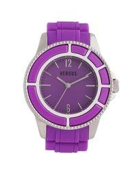 Versus | Purple 'tokyo' Rubber Strap Watch | Lyst