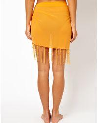 Freya - Orange Palm Wrap - Lyst