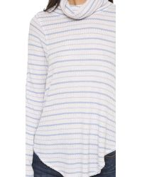 Free People - Blue Striped Drippy Thermal - Oatmeal/sky - Lyst
