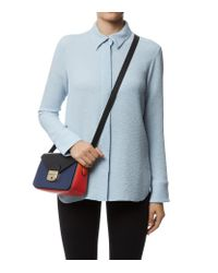 Longchamp - Blue Le Pliage Hã©ritage Tri-colour Crossbody Bag - Lyst