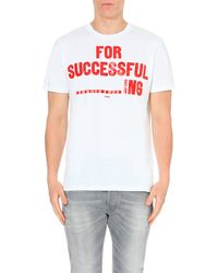 DIESEL | White T-napol For Successful ----------ing T-shirt for Men | Lyst