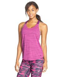 Nike | Pink 'elastika' Logo T-back Tank | Lyst