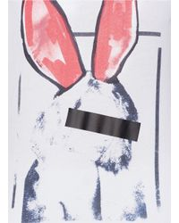 McQ - Pink Liesa Bunny Print Boyfriend T-shirt - Lyst