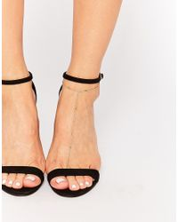 ASOS | Metallic Fine Bar Chain Foot Harness | Lyst