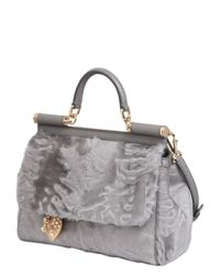 Dolce & Gabbana - Gray Mamma Xiangao Fur Top Handle Bag - Lyst