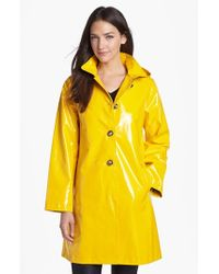 Jane Post | Yellow 'princess' Rain Slicker With Detachable Hood | Lyst