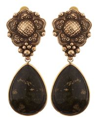 Stephen Dweck | Flower Black Jasper Drop Earrings | Lyst