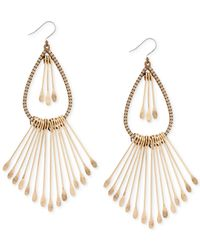 Lucky Brand | Metallic Gold-tone Paddle Drop Earrings | Lyst