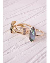 Missguided | Metallic Boho Multi-ring Set | Lyst