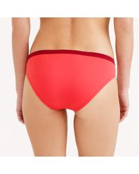 J.Crew | Red Colorblock Halter Bikini Top | Lyst