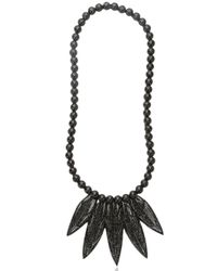 Mariah Rovery | Black Colar Penas Necklace | Lyst