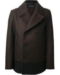 25a242842d11 Gucci Colour Block Peacoat in Brown for Men - Lyst