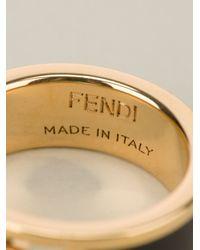 Fendi | Metallic Enamel Coated Ring | Lyst