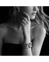 David Yurman | Metallic Crossover Wide Ring with Diamonds | Lyst