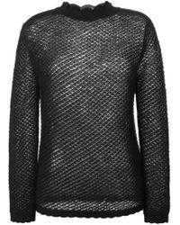Simone Rocha - Black Scalloped Trim Sweater - Lyst
