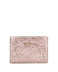 kate spade new york | Pink Glitter Bug Card Holder | Lyst