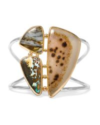 Melissa Joy Manning | Yellow 14-karat Gold And Sterling Silver Multi-stone Cuff | Lyst