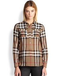 Burberry Brit - Red Check Tunic - Lyst