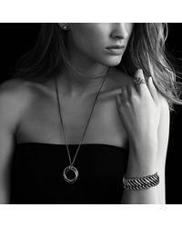 David Yurman | Black & Gold Chain Bracelet | Lyst