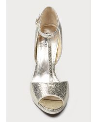 Bebe | Metallic Alyssa T-strap Sandals | Lyst