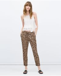 Zara | Multicolor Trousers With Zips | Lyst